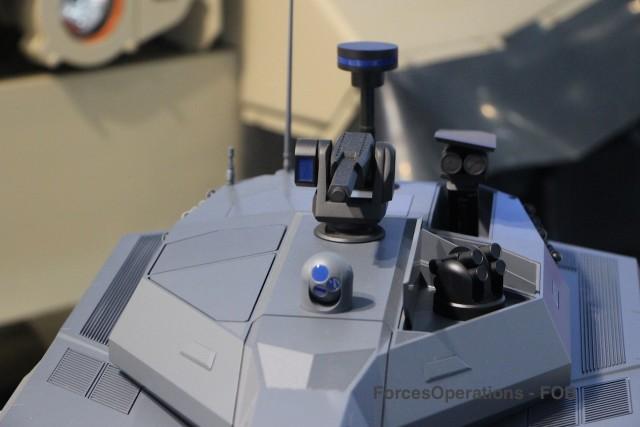 Senseurs et missiles seront escamotés dans la tourelle pour amenuiser la signature du futur char de combat