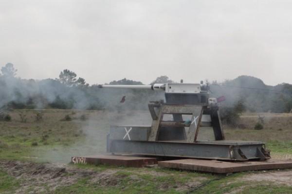 Three shells of this type were fired from the Mk44 Bushmaster II gun. Photo credit: Christina Mackenzie