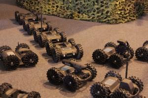 Une armée de fourmis? Plutôt une nuée de robots Nerva chacun équipés d'une charge différente (Crédit photo: Christina Mackenzie)