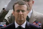 Le 8ème Président de la République Emmanuel Macron lors de son investiture le 14 mai 2017. (photo: Christina Mackenzie, capture d'écran France 2)