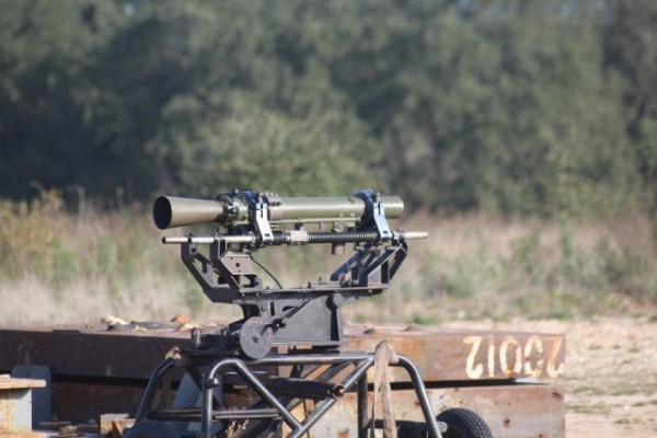 We then watched a series of firings made from a distance of just 150m from the target, some of which were done by the recoilless anti-tank Carl Gustav gun. Photo credit: Nathan Gain