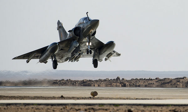 Les avions de Chammal pourraient faire face à une pénurie de munitions (Crédit: Etat-major des armées / Armée de l'air)