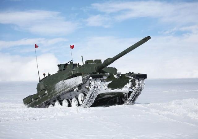 Prototype turc du projet de char d'assaut nouvelle génération Altay (crédits : Sous-secrétariat de l'industrie de la défense turque)