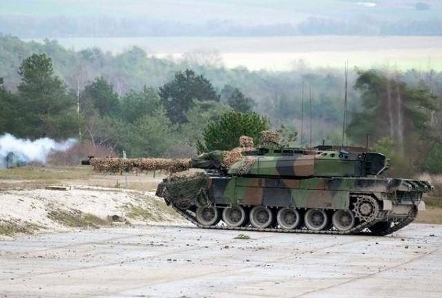 Leclerc du 501e Régiment de Chars de Combat en séquence de tir (Photo : 501 RCC)