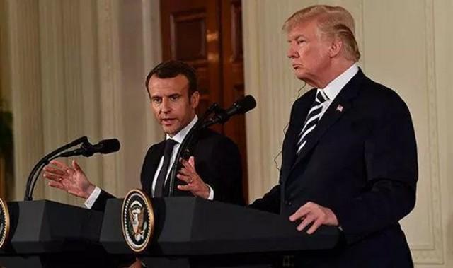 Emmanuel Macron et Donald Trump, désormais opposés sur la conduite à tenir à l'égard de l'Iran (Photo : IFMAT