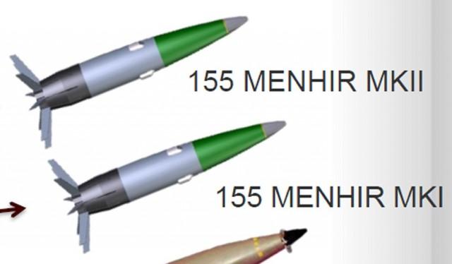 La famille Menhir telle qu'imaginée par Nexter Munitions