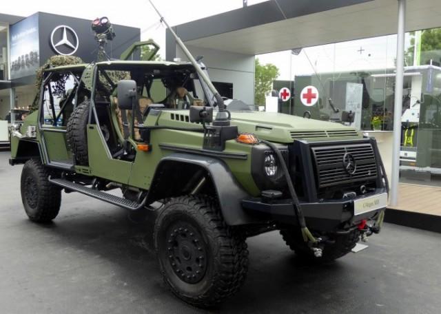 Mercedes G-Wagon en version forces spéciales mais pas celle qui concourt  pour le programme DVOW (photo : Forces Operations).