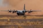 """Le C-130H """"CH-05"""" de la Composante Aérienne au départ de Bamako après un an d'opération BELTAD (Crédit photo: Sedeyn Ritchie/Défense belge)"""