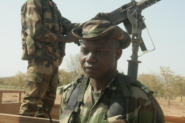 Le colonel Aboubacar Sérémé, commandant le GTIA Balanza crédits: G Belan