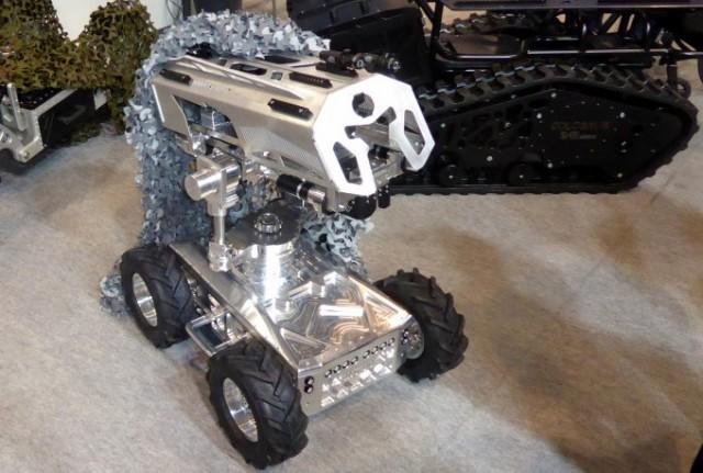 Le Snibot de SD4E, démonstrateur du robot représentatif de l'ère de l'hyper-précision (Photo: FOB)