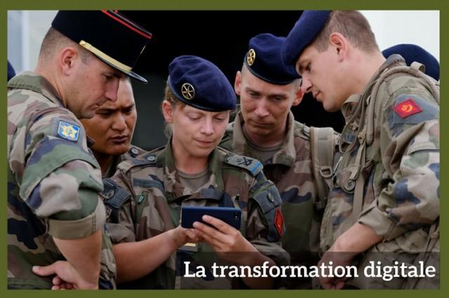 """La transformation digitale au sein de l'armée de Terre est passée par un """"tour de France"""" dans les unités (Crédit photo : armée de Terre)"""