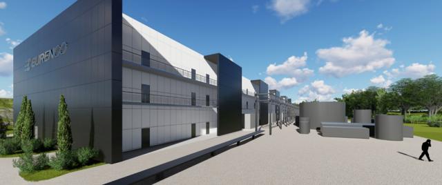 La nouvelle Unité de Fabrication de l'Hexogène projetée par Eurenco sur son site de Sorgues (Crédit photo: Eurenco)