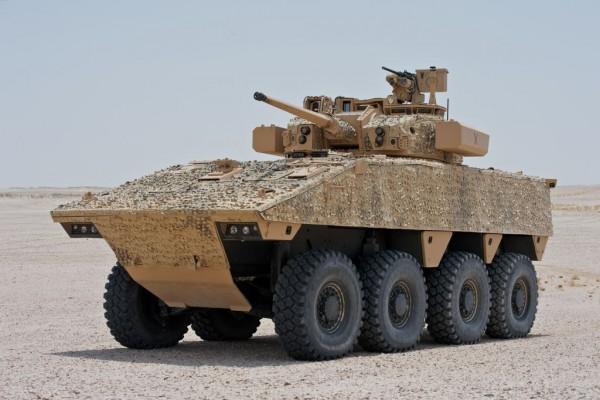 Le VBCI 2 armé d'une tourelle T40 (Crédit photo: Nexter)