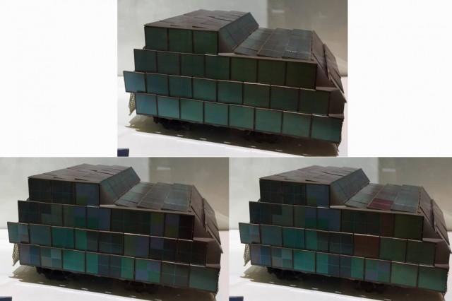 Le camouflage évolutif Caméléon 2 présenté sur maquette sur le stand du Ministère des Armées à Eurosatory (Crédits : Forces Opérations Blog)