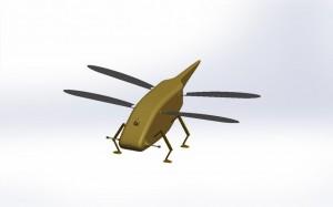 Et voici Skeeter, projet britannique de micro-drone basé sur le fonctionnement des libellules (Crédit photo: Animal Dynamics)