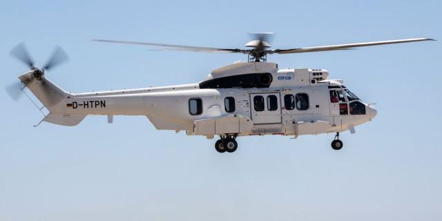 Un hélicoptère H225 Super Puma opéré par Global Helicopter Service GmbH (Crédit photo: GHS)