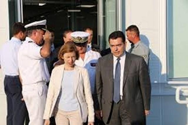 La Ministre française de la défense Florence Parly et son homologue chypriote Christoforos Fokaides (Source : Ambassade de France à Chypre)