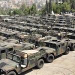 L'armée libanaise ont régulièrement été renforcées par l'aide militaire Américaine