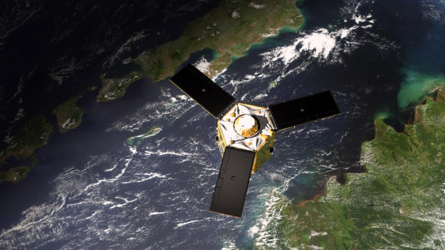 L'un des satellites Pléiades utilisés pour collecter les informations de GEODE 4D (Crédit: ministère des Armées)