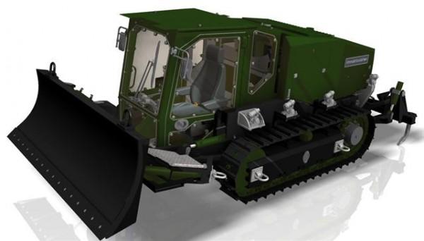 Le nouveau Tracteur-Niveleur Aérolargable de la section d'aide à l'engagement parachutiste du 17e Régiment du Génie parachutiste (Credit: UNAC)