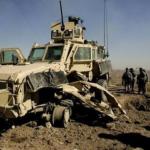 Un RG-31 renversé en Afghanistan (Crédit photo: US Army)