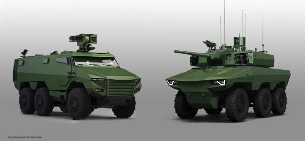 SLATE défendra bienôt les futurs VBMR Griffon et EBMR Jaguar appelés à moderniser la cavalerie de l'armée de Terre (Crédit: RTD/Nexter Systems/Thales)