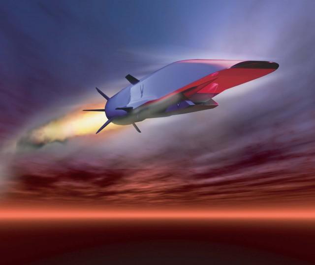Vue d'artiste du missile hypersonique expérimental X-51A Waverider développé par Boeing et l'US Air Force (Crédit : USAF)