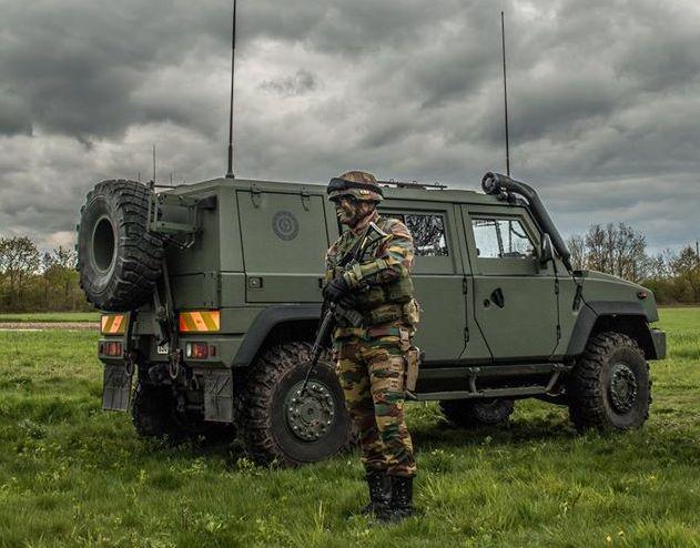 Un véhicule Lynx du bataillon Carabiniers Prince Baudouin - Grenadiers de la Composante Terre belge (Crédit : 1 C/1 Gr)
