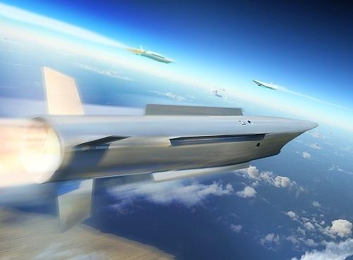 Vision artistique de ce que pourrait être la composante intercepteur du projet européen TWISTER (Crédit : MBDA)