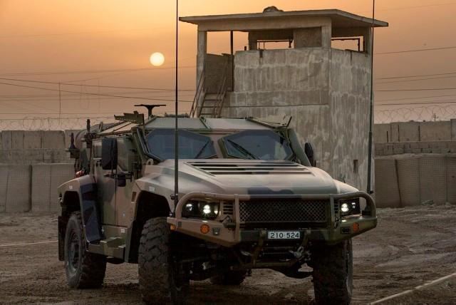 Un Hawkei PMV-L australien déployé en Irak (opération Okra) à des fins d'évaluation (Crédits : Australian Army/CPL Steve Duncan)