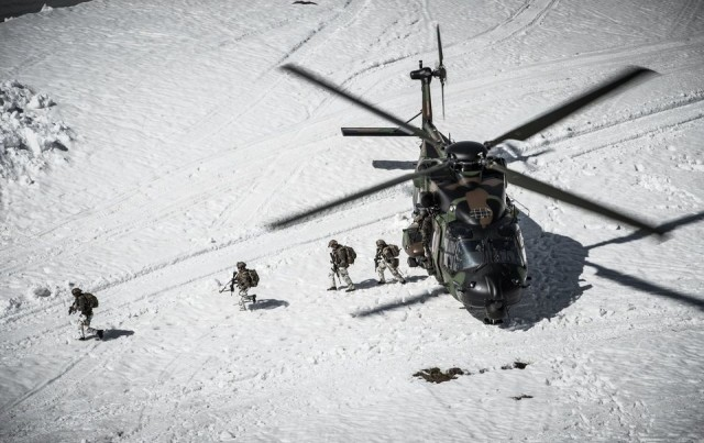 Les troupes de montagne durant l'exercice CERCES 2018 (Crédits : 27e BIM)