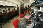 L'intérieur de la plateforme de formation SICS, 16 postes individuels pour les stagiaires administrateurs (Crédit photo : 7e brigade blindée)