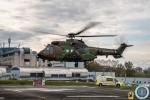 Un hélicoptère Cougar rénové du 5e RHC lors de la phase de validation des procédures de transfert (Crédit : Cc1 Jérôme/5RHC)