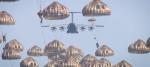 L'A400M lors d'un largage de 80 parachutistes français et belges en septembre 2019 sur la zone de saut de Ger Azet, dans les Pyrénées (Crédits: DGA)
