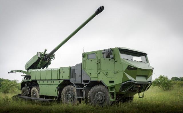 Le canon automoteur CAESAR en version 8x8 (Crédits: Nexter)