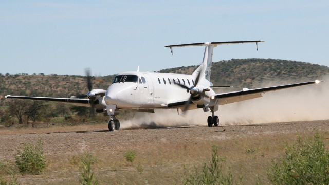 Un Beechcraft King Air 1900C de la branche sud-africaine du groupe Starlite Aviation (Crédit : Starlite Aviation Group)