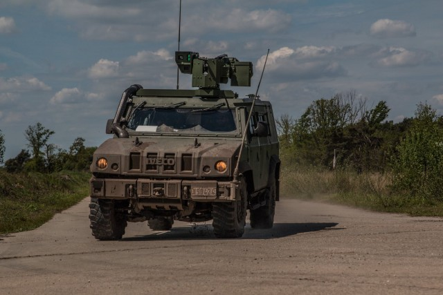 Un Lynx SPS du bataillon Carabiniers Prince Baudouin - Grenadiers (Crédit: 1C/1Gr)