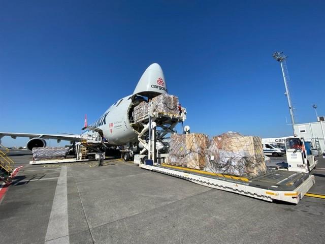 Un Boeing 747 de Cargolux utilisé pour ramener du matériel médical de Chine au profit, notamment, de la Belgique (Crédits : NSPA)