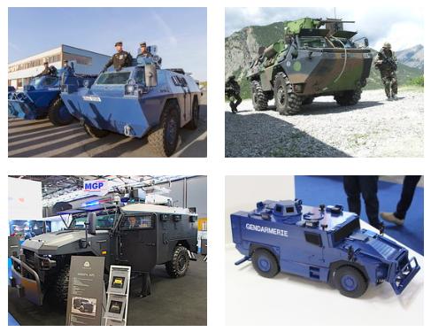 Les quatre véhicules aujourd'hui à l'étude pour le renouvellement du parc blindé de la Gendarmerie