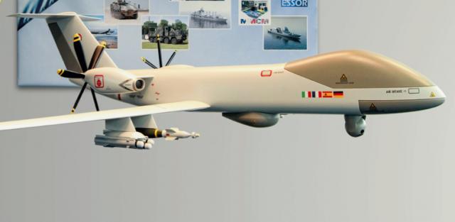 Le projet de drone MALE européen, autre piste d'intégration évoquée pour le missile MAST-F (Crédits  : OCCAR)