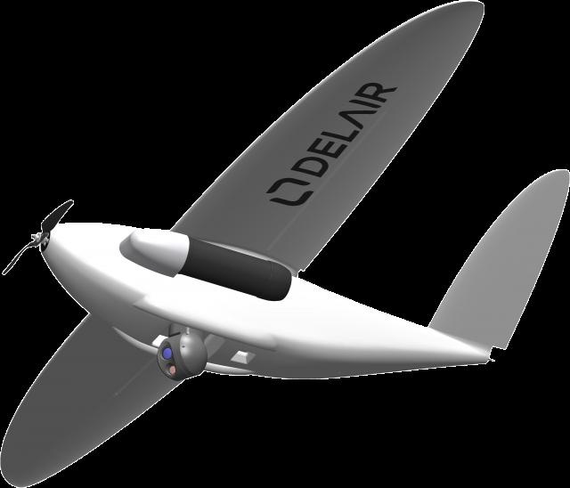 D'ici quelques semaines, un drone DT26 mû à l'hydrogène réalisera ses premiers essais en vol (Crédits: Delair)