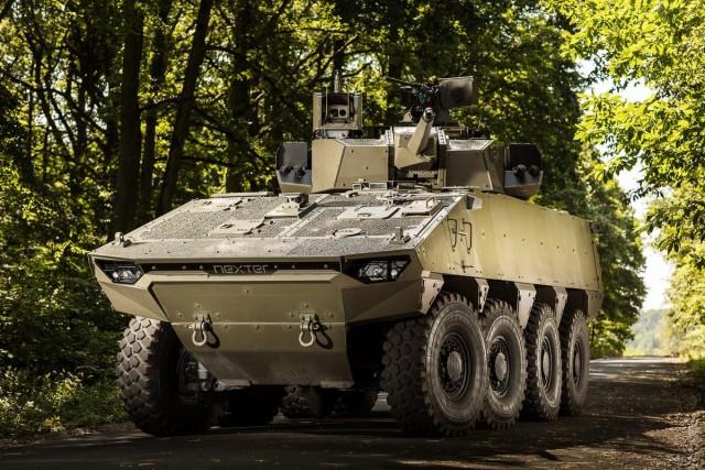 """Le VBCI 2 de Nexter, ici armé d'une tourelle """"maison"""" T40 (Crédit: Nexter Systems)"""