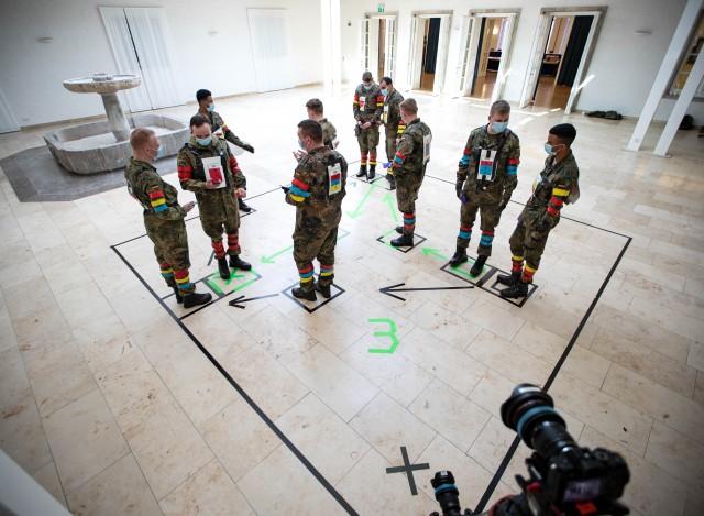 Les soldats du bataillon de la garde de la Bundeswehr, cobayes du projet européen PEPP-T (Crédit: ministère de la Défense allemand)