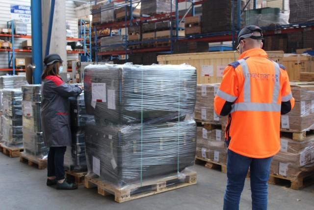 Poursuite des activités de supply chain grâce à la mise en place des mesures barrières sur le site de Roanne (Crédits: Nexter)