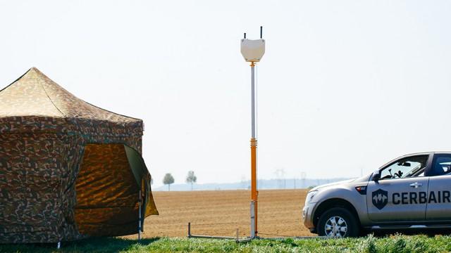 Une solution anti-drones mobile proposée par le Français CerbAir (Crédit : CerbAir)
