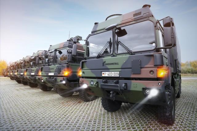 2,4 Md€ pour des milliers de camions, contrat majeur parmi d'autres remportés par Rheinmetall Defense au 1er semestre (Crédits : Rheinmetall)