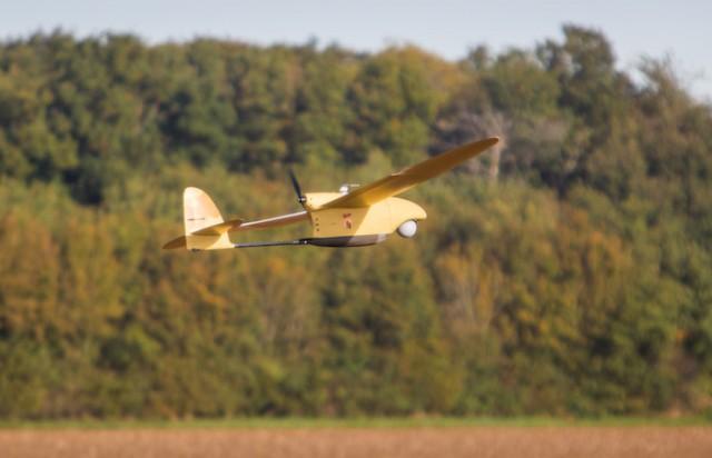 Basé sur le Spy'Ranger, le drone SMDR a entamé des qualifications en vol fin avril (Crédits: Thales)