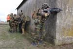 Le 1/3 bataillon de Lanciers à l'assaut du village fictif de Beauséjour