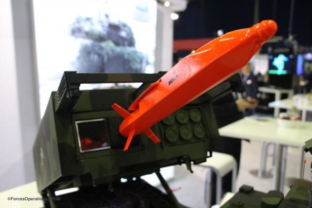 Un design préliminaire du missile présenté au salon NEDS