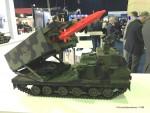 Modèle réduit d'un système MARS II allemand armé du futur missile sol-sol européen